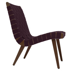 Risom Lounge Chair lounge chair Knoll Light Walnut +$51.00 Aubergine Cotton Webbing