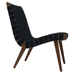 Risom Lounge Chair lounge chair Knoll Light Walnut +$51.00 Black Cotton Webbing