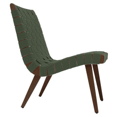 Risom Lounge Chair lounge chair Knoll Light Walnut +$51.00 Khaki Cotton Webbing