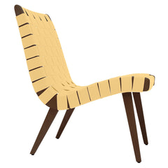 Risom Lounge Chair lounge chair Knoll Light Walnut +$51.00 Maize Cotton Webbing