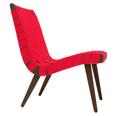 Risom Lounge Chair lounge chair Knoll Light Walnut +$51.00 Red Cotton Webbing