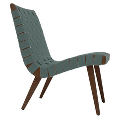 Risom Lounge Chair lounge chair Knoll Light Walnut +$51.00 Eucalyp. Cotton-Nylon Webbing