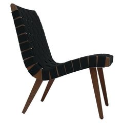 Risom Lounge Chair lounge chair Knoll Light Walnut +$51.00 Licorice Cotton-Nylon Webbing