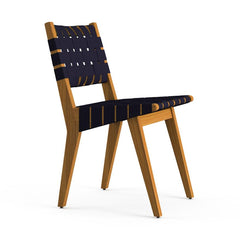 Risom Outdoor Side Chair Outdoors Knoll Navy Sunbrella Webbing