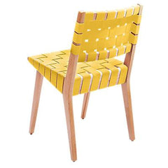 Risom Side Chair with Webbed Back Side/Dining Knoll Maple Squash Nylon Webbing