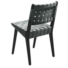 Risom Side Chair with Webbed Back Side/Dining Knoll Ebonized Maple Eucalyptus Nylon Webbing