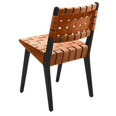Risom Side Chair with Webbed Back Side/Dining Knoll Ebonized Maple Nutmeg Nylon Webbing