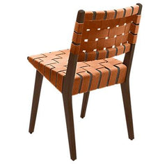 Risom Side Chair with Webbed Back Side/Dining Knoll Light Walnut Nutmeg Nylon Webbing