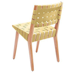 Risom Side Chair with Webbed Back Side/Dining Knoll Maple Maize Cotton Webbing