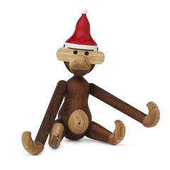 Santa Hat for Small Monkey Wooden Animals Kay Bojesen