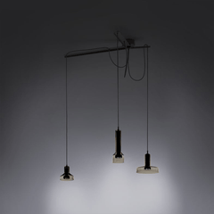 Stab Light Suspension suspension lamps Artemide Triple Green Amber Clear