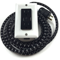 12' EXTO DUAL-USB, DUAL-OUTLET - AC/DC