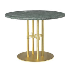 "TS Column Lounge Table table Gubi Verde Guatemala Brass 31.50"" Dia"