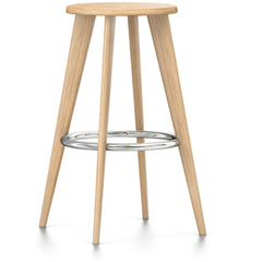 Tabouret Haut Stool by Vitra Stools Vitra Natural Oak Chrome