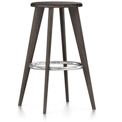 Tabouret Haut Stool by Vitra Stools Vitra Dark Oak Chrome