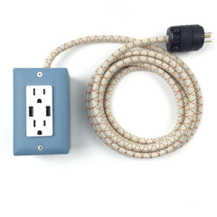 12' Exto Dual-Usb, Dual-Outlet - Martha Blue