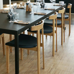 Torii Chair With Wood Seat Side/Dining Bensen