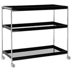 kartell trays - 3 shelf trolley