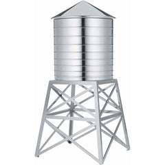 Water Tower Container kitchen Alessi stainless steel mirror polished - silver stand