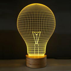 Yellow Bulb Table Lamp