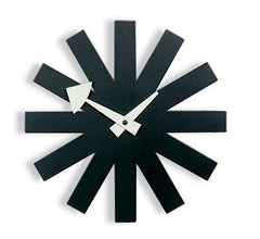 Nelson Asterisk Clock - Black