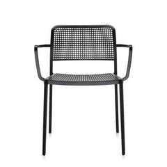 Audrey Armchair Side/Dining Kartell Black Painted Frame/Black Seat & Back
