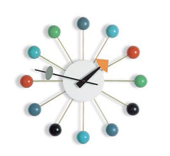 Nelson Ball Clock Multi-Colored