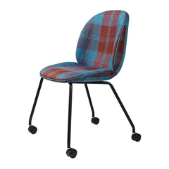 Beetle Meeting Chair - 4 Legs with Castors - Fully Upholstered Chairs Gubi