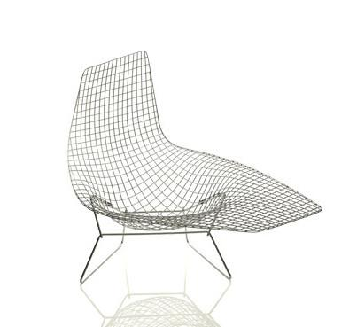Bertoia asymmetric chaise for Bertoia asymmetric chaise