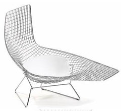 Bertoia Asymmetric Chaise Lounge With Seat Cushion
