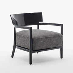 Cara Solid Lounge Chair lounge chair Kartell Black Anthracite