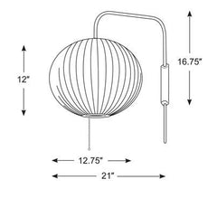 Nelson Ball Wall Sconce wall / ceiling lamps herman miller