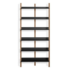 Browser Tall Bookcase Shelves BluDot Walnut / Oblivion