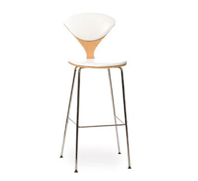 Cherner Metal Leg Stool Upholstered Seat Amp Back