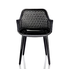 Cyborg Elegant Armchair With Wicker Back Side/Dining Magis Glossy Back Legs/ Black Wicker Back