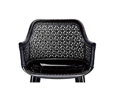Cyborg Elegant Armchair With Wicker Back Side/Dining Magis