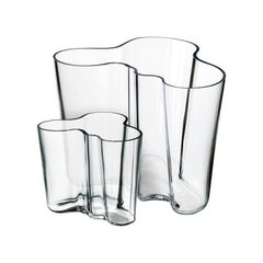Iittala Aalto Vase Set of 2 Clear