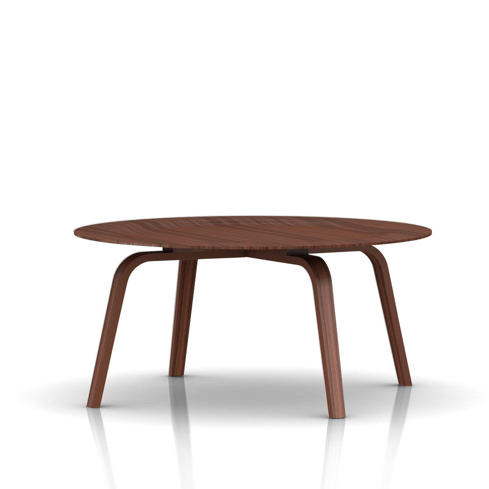 Eames molded plywood coffee table with wood base for Table charles eames
