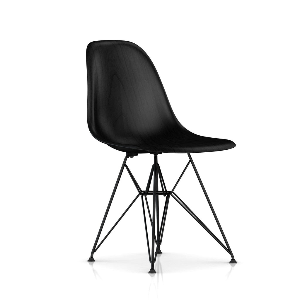 eames molded wood side chair wire base. Black Bedroom Furniture Sets. Home Design Ideas