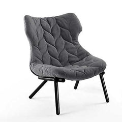 Foliage Lounge Chair lounge chair Kartell black Legs trevira - grey (C)