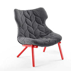 Foliage Lounge Chair lounge chair Kartell red legs trevira - grey (C)