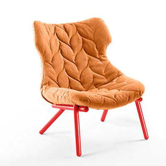 Foliage Lounge Chair lounge chair Kartell red legs trevira - orange (B)