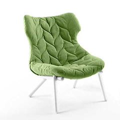 Foliage Lounge Chair lounge chair Kartell white legs trevira - green (D)