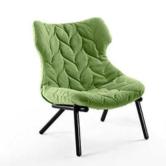 Foliage Lounge Chair lounge chair Kartell black Legs trevira - green (D)