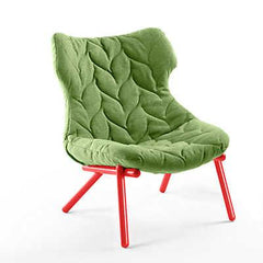 Foliage Lounge Chair lounge chair Kartell red legs trevira - green (D)