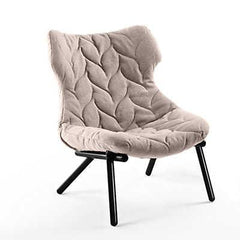 Foliage Lounge Chair lounge chair Kartell black Legs trevira - beige (A)