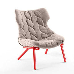 Foliage Lounge Chair lounge chair Kartell red legs trevira - beige (A)