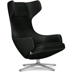 Grand Repos Lounge Chair lounge chair Vitra Polished 16.1-Inch Cosy Contrast - Merino Black - 11