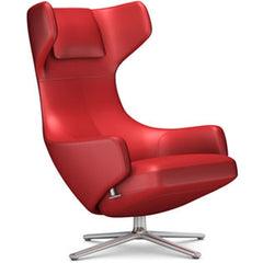 Grand Repos Lounge Chair lounge chair Vitra Polished 16.1-Inch Leather Contrast - Red - 70 +$730.00