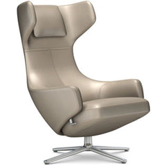 Grand Repos Lounge Chair lounge chair Vitra Polished 16.1-Inch Leather Contrast - Sand - 71 +$730.00